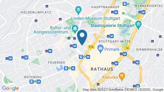 TOP VCH Hotel Wartburg Stuttgart Map