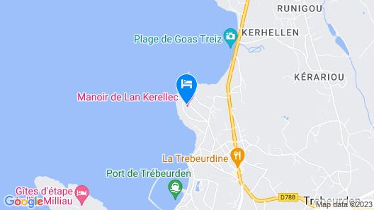 Manoir de Lan Kerellec Map