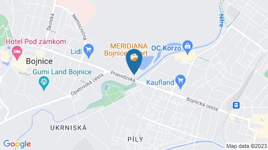Penzión Meridiana Bojnice Map