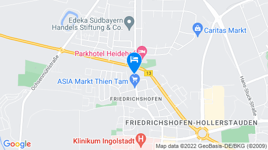 greenpartment Boardinghouse Hotel Ingolstadt Friedrichshofen Map