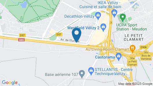 Montempô Apparthôtel Paris Vélizy Map