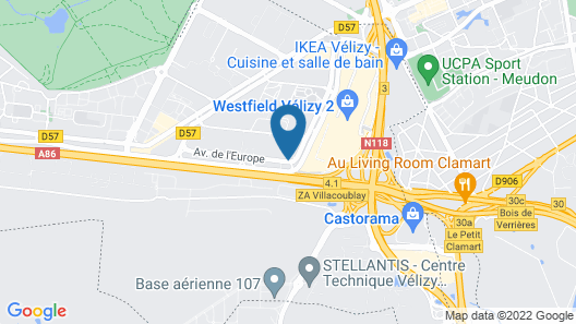 Mercure Paris Velizy Map