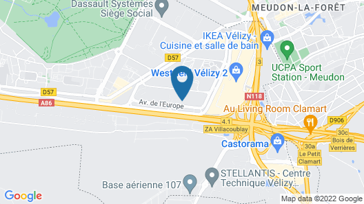 Nemea Appart'hôtel Vélizy Europe Map