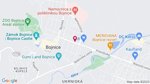 Penzion Bojnice Map