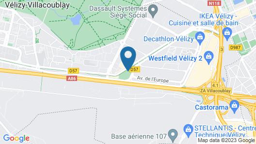 Best Western Plus Paris Velizy Map