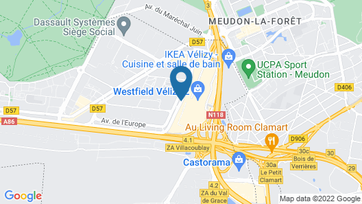 ibis Styles Paris Velizy Map