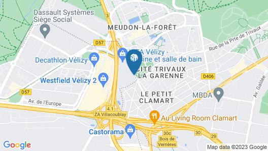 ibis budget Vélizy Map