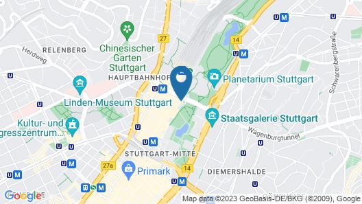 Althoff Hotel am Schlossgarten Map