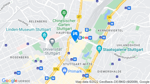 Motel One Stuttgart - Mitte Map