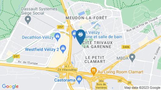 Novotel Suites Paris Velizy Map