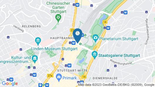 Intercityhotel Stuttgart Map