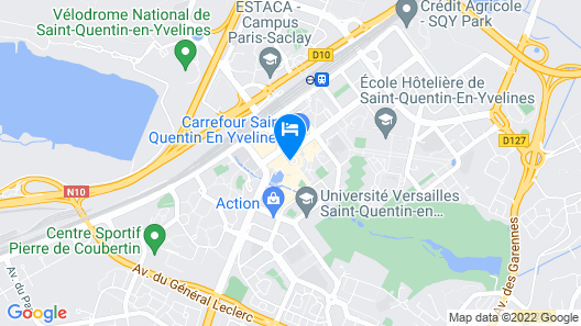 Campanile Saint Quentin en Yvelines Map