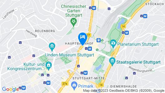 Novum Hotel Rieker Stuttgart Hauptbahnhof Map