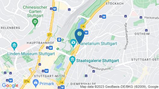 Le Méridien Stuttgart Map