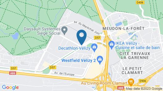 Appart'City Confort Paris Velizy Map