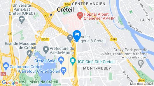 Campanile Creteil Centre Map