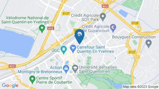 Hotel Mercure Saint Quentin En Yvelines Centre Map