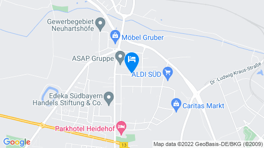 HOTEL NEW IN - Ingolstadt - Gaimersheim Map