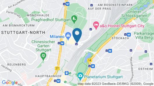 Hampton by Hilton Stuttgart City Centre Map