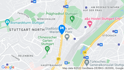 Aloft Stuttgart Map