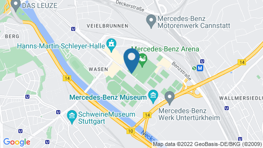 Hilton Garden Inn Stuttgart Neckar Park Map