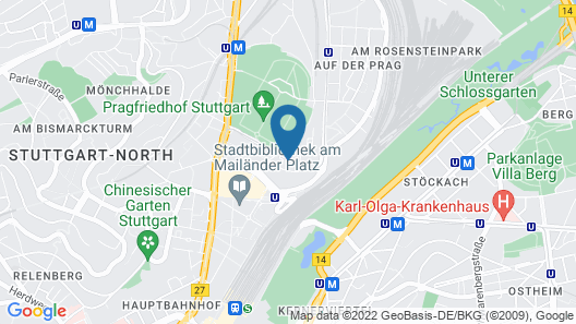 Hotel Stuttgart 21 Map