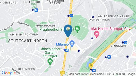 Mercure Hotel Stuttgart City Center Map