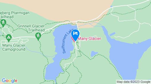 Many Glacier Hotel - Inside the Park Map
