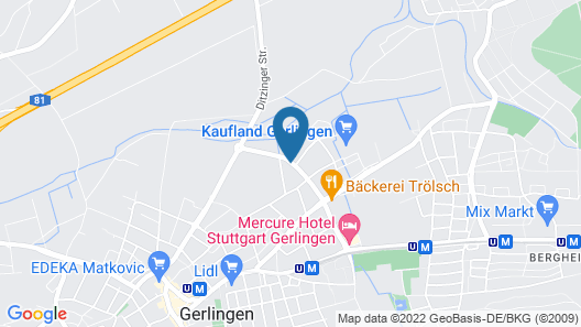 DoblerGreen Hotel Map