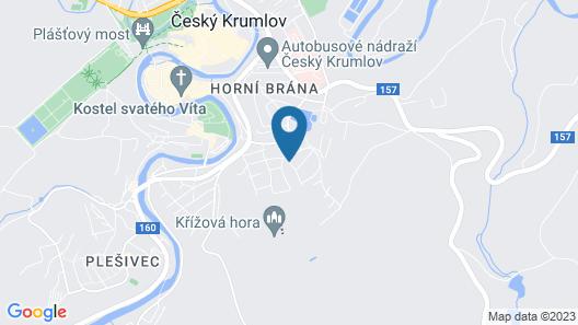 Penzion Krumlov - B&B Hotel Map