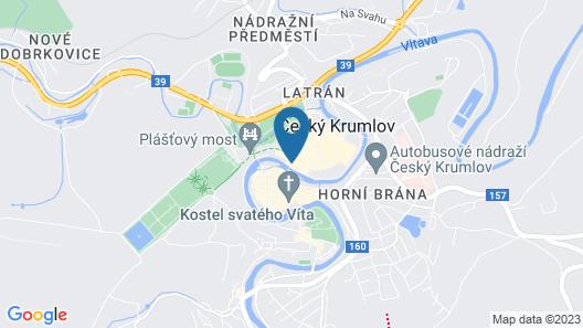 2 Bedroom Accommodation in Cesky Krumlov Map