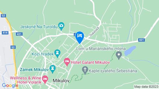 Mikulov Inn - Apartments Slunce Map