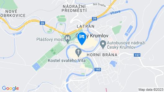 Ubytování Zámecké Schody Map