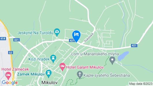 Penzion Panorama Map