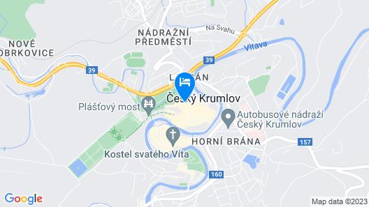 Bellevue hotel Český Krumlov Map