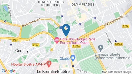 ibis Styles Paris Meteor Avenue d'Italie Map