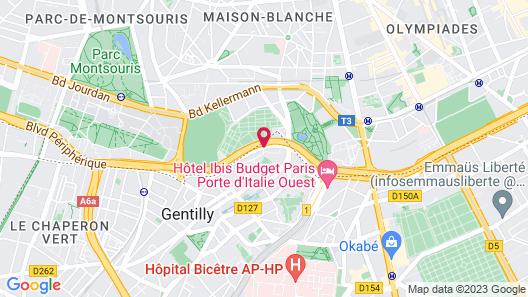 ibis Paris Porte d'Italie Map