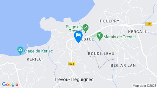 Hotel Residence Les Terrasses de Trestel Map