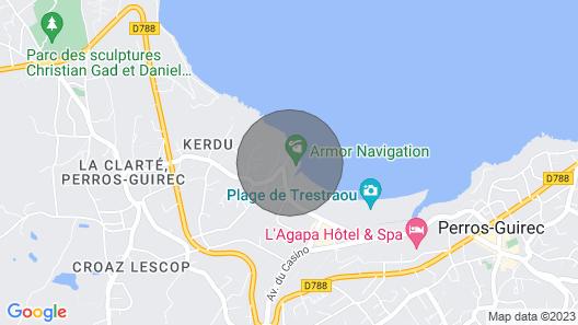 Appartement Calme, Lumineux, Rénové, 50 Mètres Plage Trestraou Perros Guirec Map