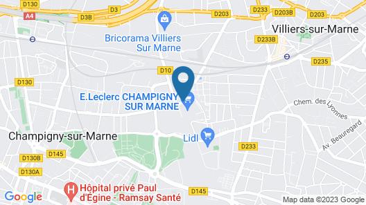 Comfort Hotel Champigny Sur Marne Map
