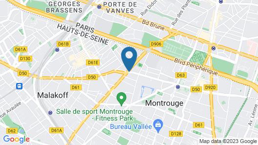 Aparthotel Adagio Paris Montrouge Map