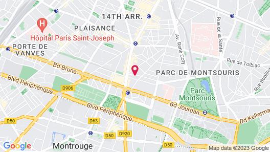 Le Glam's Hôtel Map