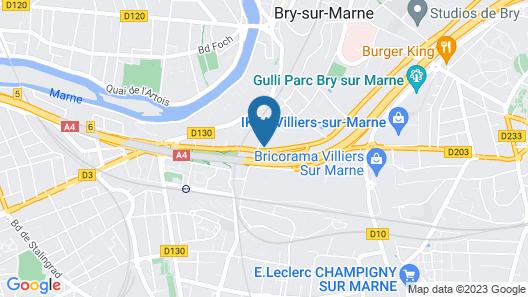 B&B Hotel Champigny-sur-Marne Map