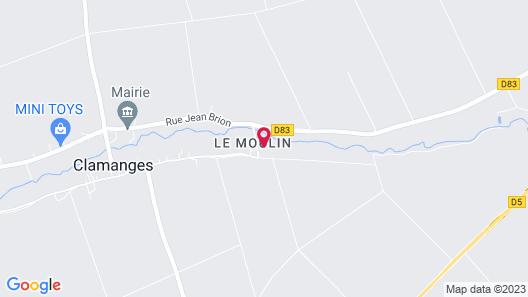 Au Pré du Moulin Map