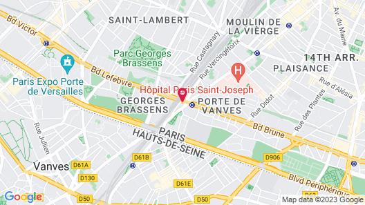 Novotel Suites Paris Expo Porte de Versailles Map