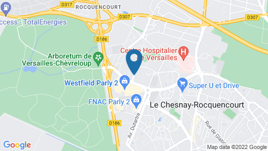 Mercure Versailles Parly 2 Map