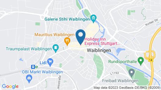 Holiday Inn Express Stuttgart - Waiblingen Map