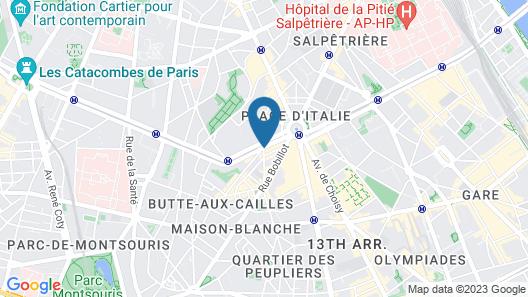 Mercure Paris Place d'Italie Map