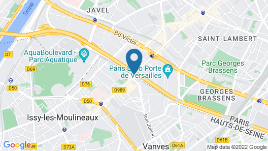 Hotel Oceania Paris Porte de Versailles Map