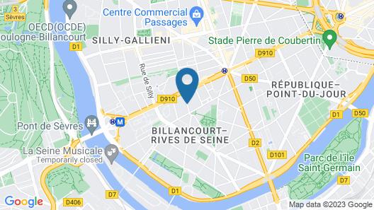 ibis Paris Boulogne Billancourt Map